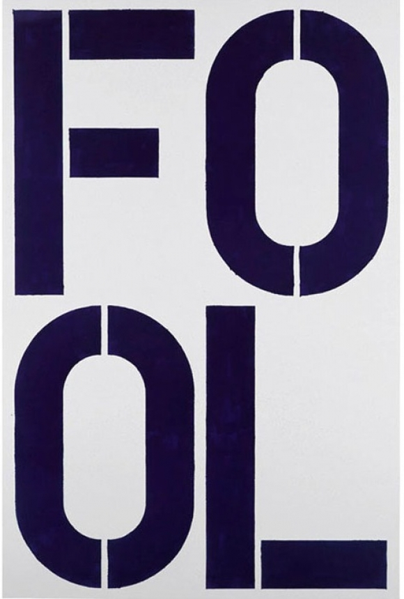 Christopher Wool Blue Fool, 1990 Enamel on aluminum 108