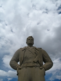 Steve Canyon statue, Idaho Springs CO, 2013