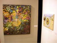 "Charles Schneider ""Fancy Space Hole"" (left), Don Suggs ""Proprietary View Mel"