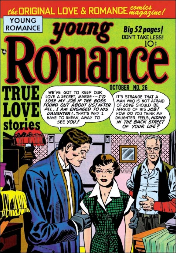 Jack Kirby Young Romance 26 (the one Richard Hamilton used in 'Just What...')