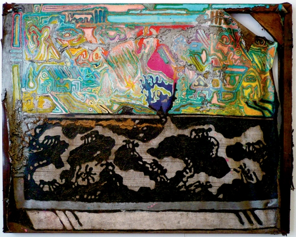 Doug Harvey The Dignity of Labor 2010 oil acrylic enamel and mixed mediums on canvas 35 by 44 inches.jpg